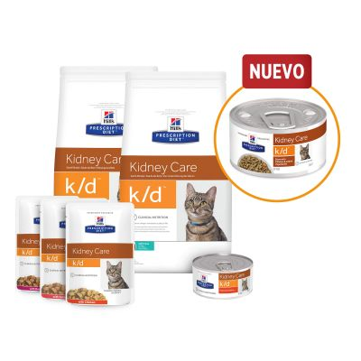 Hill's k/d Prescription Diet Kidney Care estofado con pollo para gatos