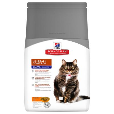 Hill's Mature Adult Hairball & Indoor con pollo pienso para gatos