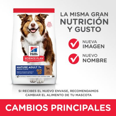 Hill's Mature Adult 7+ Medium Science Plan con cordero y arroz