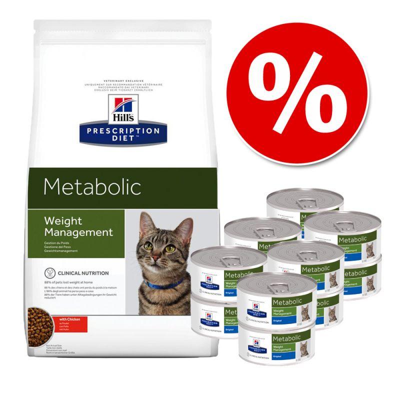 Hill's Metabolic pienso + comida húmeda para gatos - Pack mixto