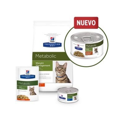 Hill's Metabolic Prescription Diet estofado con pollo para gatos