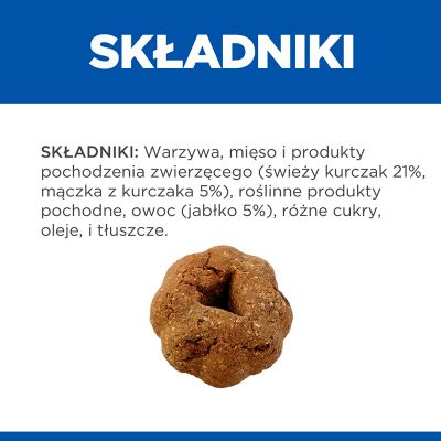 Hill's No Grain Crunchy Snacks, kurczak i jabłko