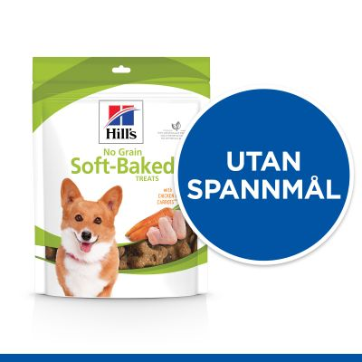 Hill's No Grain Soft Baked Snacks Chicken & Carrot