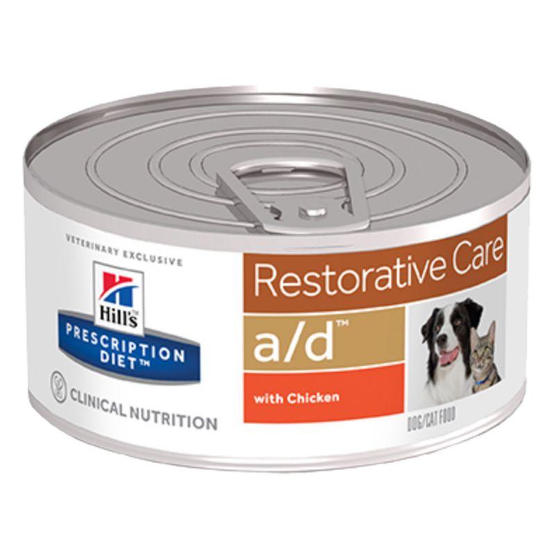 Hill's Prescription Diet A/D Restorative Care Honden- en Kattenvoer met Kip