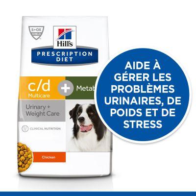 Hill's Prescription Diet c/d Multicare Urinary Care + Metabolic pour chien