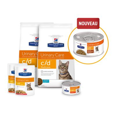 Hill's Prescription Diet c/d Multicare Urinary Care Mijoté poulet, légumes pour chat
