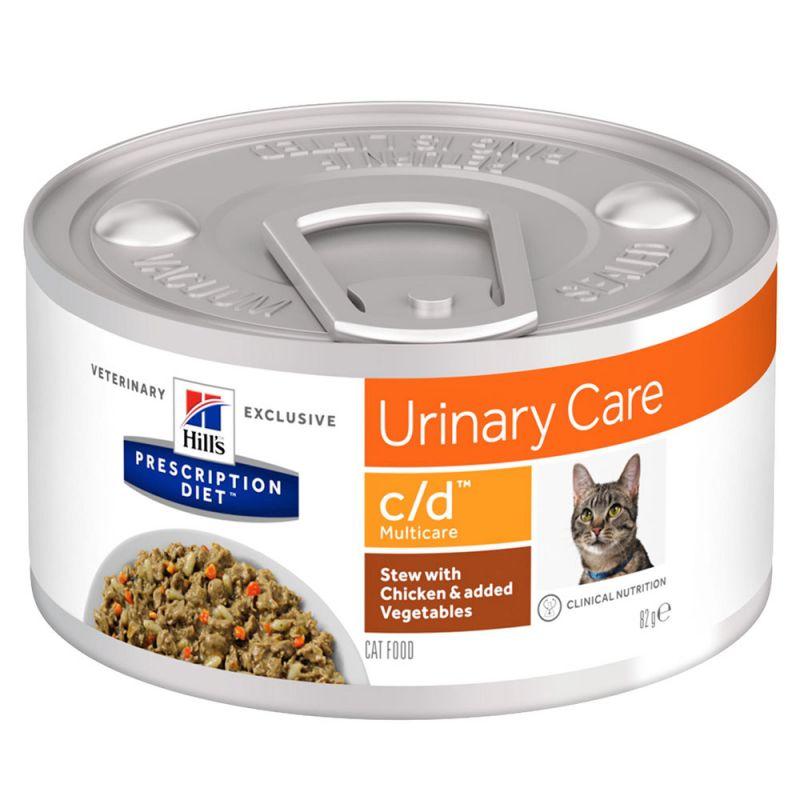 Hill's Prescription Diet c/d Multicare Urinary Care Mijoté poulet, légumes pour chat