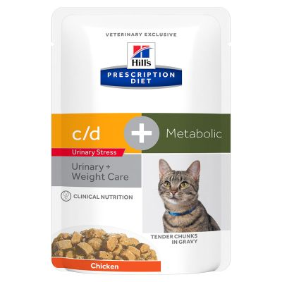 Hill's Prescription Diet c/d Urinary Stress + Metabolic umido per gatti - pollo