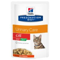 Hill's Prescription Diet c/d Urinary Stress Reduced Calorie umido per gatti
