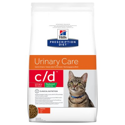 Hill's Prescription Diet c/d Urinary Stress Reduced Calorie Urinary Care secco per gatti