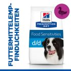 Hill's Prescription Diet d/d Food Sensitivities Hundefutter mit Ente & Reis