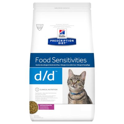 Hill's Prescription Diet d/d Food Sensitivities Katzenfutter mit Ente & grünen Erbsen