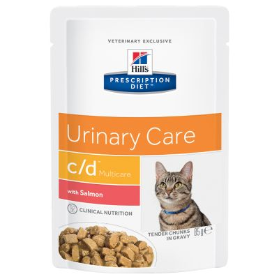 Hill´s Prescription Diet Feline c/d Multicare Urinary - Salmon Pouches