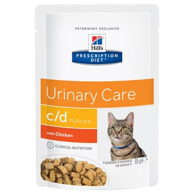 Hill's Prescription Diet Feline c/d Urinary Care, kurczak w sosie