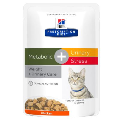 Hill's Prescription Diet Feline - Metabolic + Urinary with Chicken Pouches