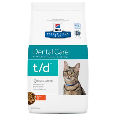 Hill's Prescription Diet Feline t/d Dental Care pour chat