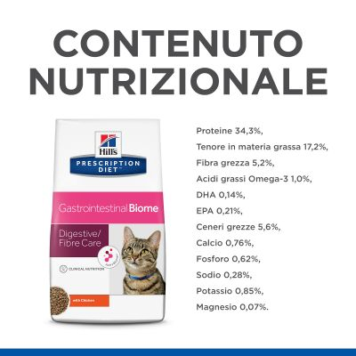 Hill's Prescription Diet Gastrointestinal Biome secco per gatti