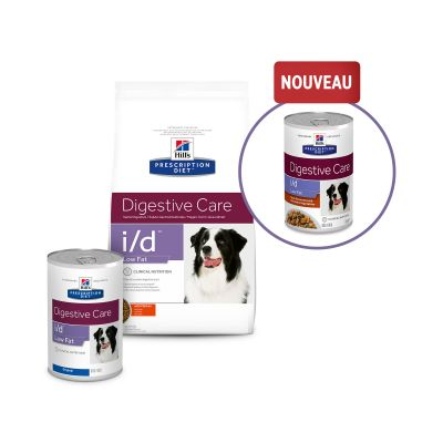Hill's Prescription Diet i/d Digestive Care Low Fat Mijoté poulet, légumes pour chien