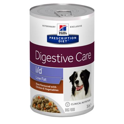 Hill's Prescription Diet i/d Low Fat Digestive Care estufado para cães