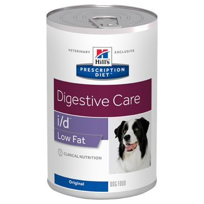 Hill's Prescription Diet i/d Low Fat Digestive Care latas para cães