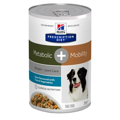 Hill's Prescription Diet Metabolic + Mobility Ragout mit Thunfisch für Hunde