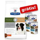 Hill's Prescription Diet ração 12 kg + 4 x 354 g latas grátis!