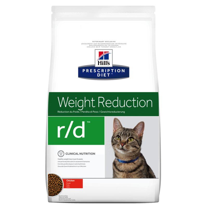 Hill's Prescription Diet r/d Weight Reduction com frango ração para gatos