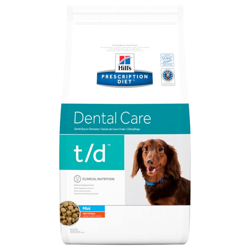 Hill's Prescription Diet t/d Mini Dental Care, kurczak