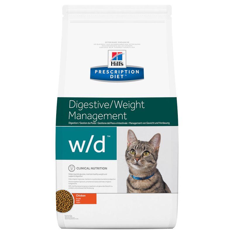 Hill's Prescription Diet w/d Digestive/Weight Management poulet pour chat