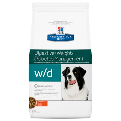 Hill's Prescription Diet w/d Digestive/Weight/Diabetes Management hundfoder med kyckling