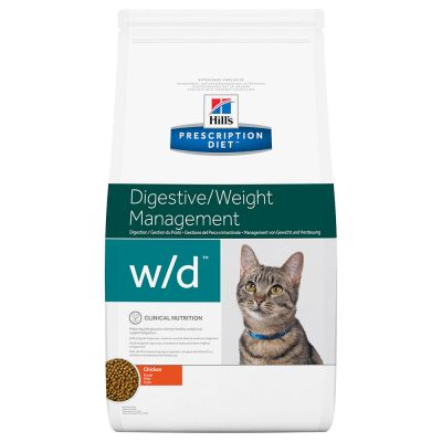Hill´s Prescription Diet W/D Low Fat Diabetes Colitis Kattenvoer met Kip