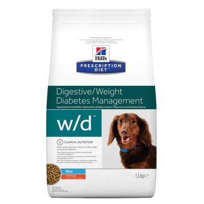 Hill's Prescription Diet w/d Mini Digestive/Weight/Diabetes Management secco per cani