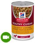 Hill's Science Plan Adult 1–6 Healthy Cuisine gulasz, kurczak i warzywa