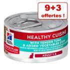 Hill's Science Plan Adult Healthy Cuisine Mijoté 9 x 79 g + 3 boîtes offertes !