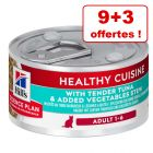 Hill's Science Plan Adult Healthy Cuisine 9 x 79 g + 3 boîtes offertes !