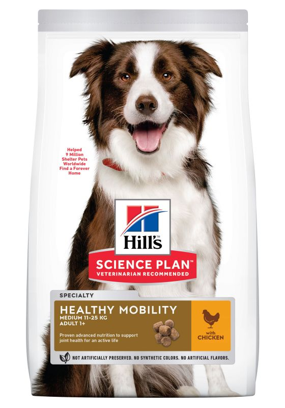 Hill's Science Plan Adult 1+ Healthy Mobility Medium Breed Chicken
