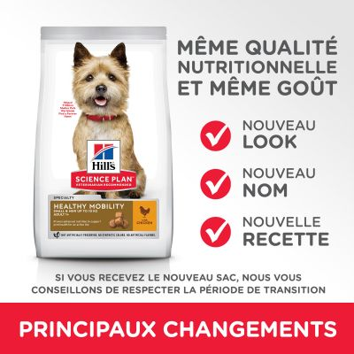 Hill's Science Plan Adult 1+ Healthy Mobility Small & Mini poulet pour chien