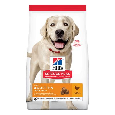 Hill's Science Plan Adult Light Large Breed met Kip