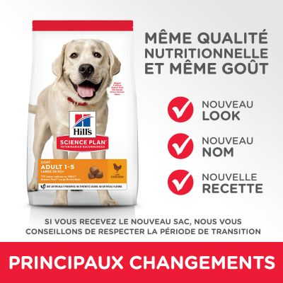 Hill's Science Plan Adult 1-5 Light Large poulet pour chien