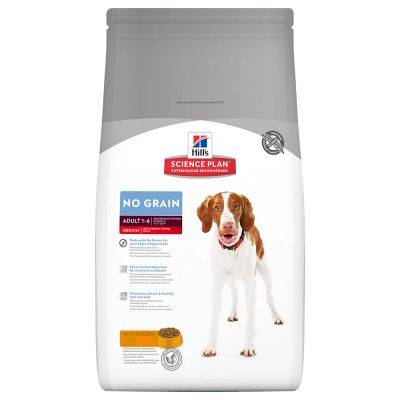 Hill's Science Plan Adult 1-6 No Grain Medium poulet pour chien