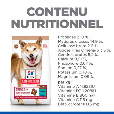Hill's Science Plan Adult 1-6 No Grain Medium thon pour chien