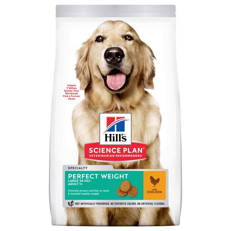 Hill's Science Plan Adult 1+ Perfect Weight Large poulet pour chien