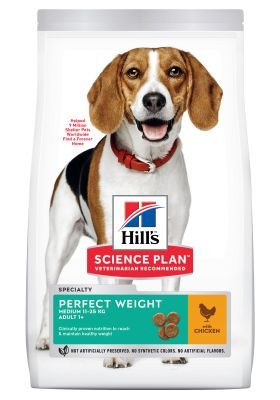 Hill's Science Plan Adult 1+ Perfect Weight Medium com frango