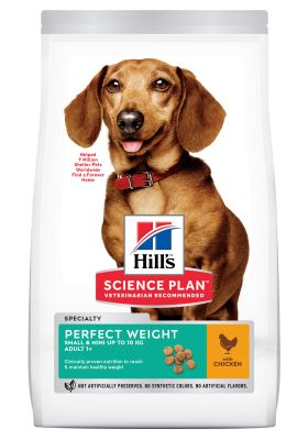 Hill's Science Plan Adult 1+ Perfect Weight Small & Mini hundefoder