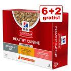 Hill's Science Plan Feline Healthy Cuisine 8 x 80 g em promoção: 6 + 2 grátis!