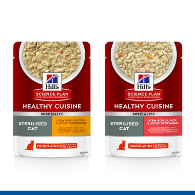 Hill's Science Plan Feline Healthy Cuisine 8 x 80 g en oferta: 6 + 2 ¡gratis!