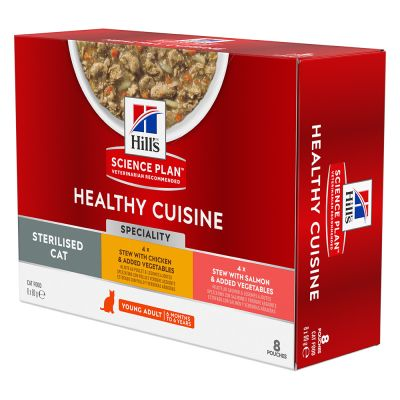 Hill's Science Plan Healthy Cuisine 6 x 80 g + 2 sachets offerts !