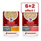 Hill's Science Plan Healthy Cuisine 6 x 80 g + 2 sachets offerts !