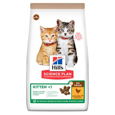 Hill's Science Plan Kitten <1 No Grain met Kip Kattenvoer