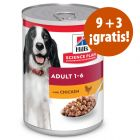 Hill's Science Plan latas para perros en oferta: 9 + 3 ¡gratis!